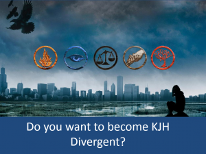 Kearns Jr. High Divergent Challenge PowerPoint Slideshow
