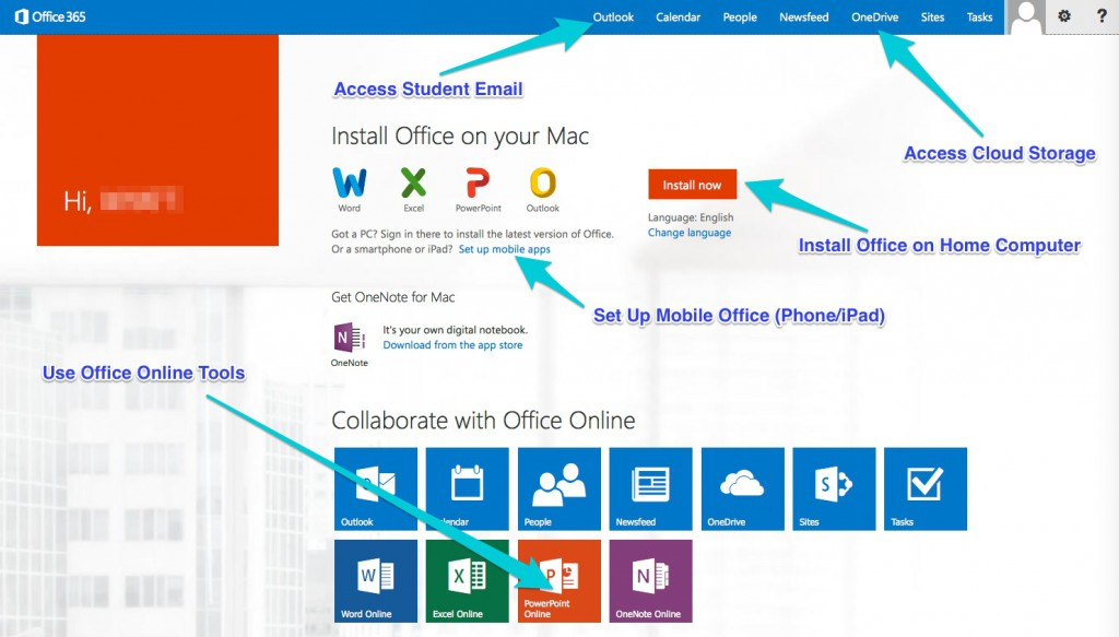 Office 365 Screen Shot