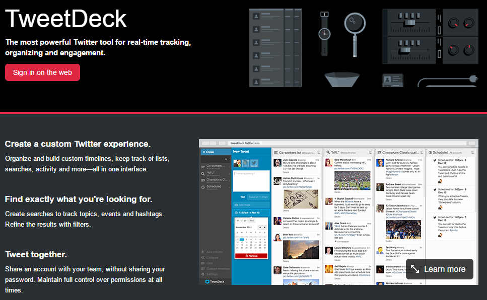 TweetDeck About