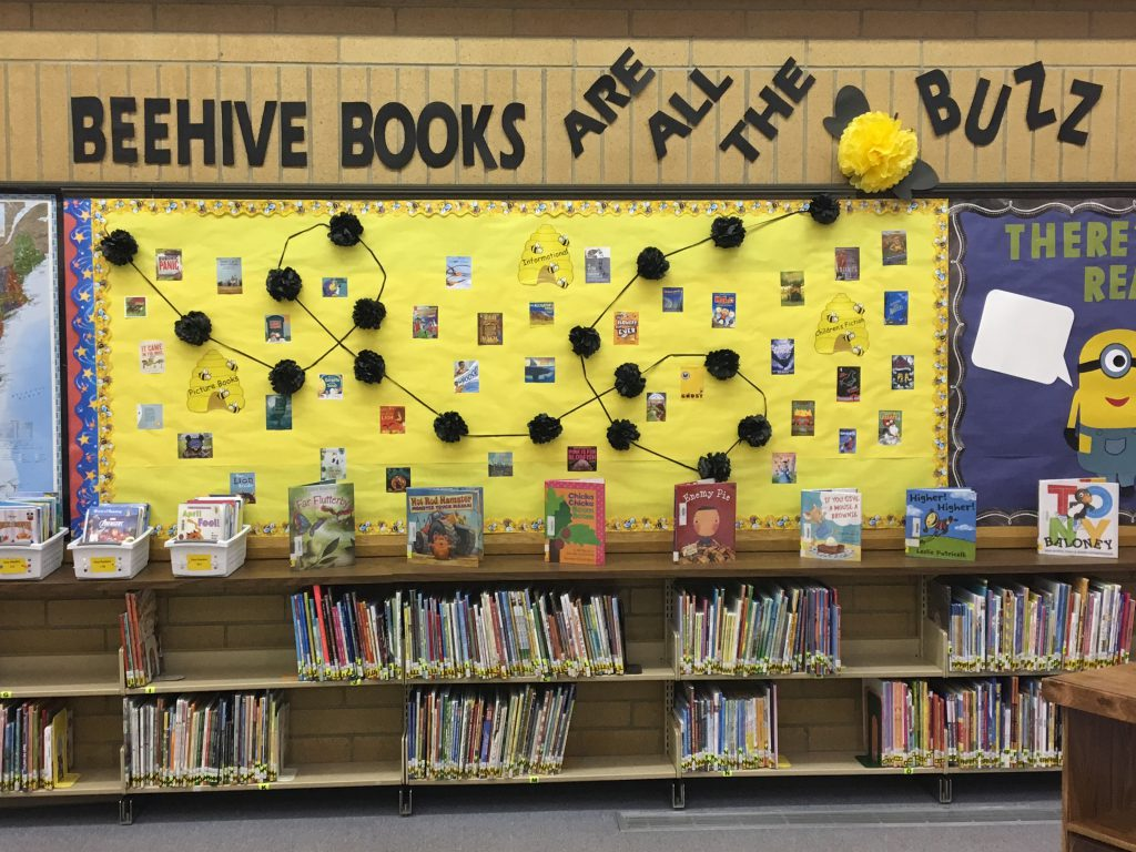 Beehive Book Display - Jim Bridger Elementary Media Center