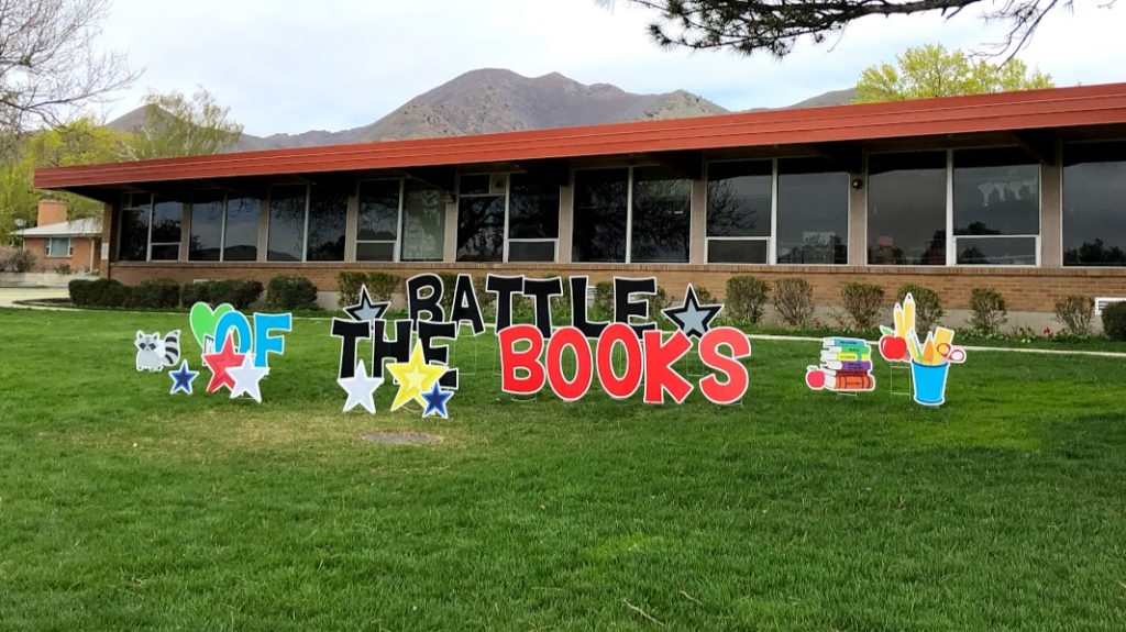 Battle of the Books 2018 - Rosecrest Elementary Signage