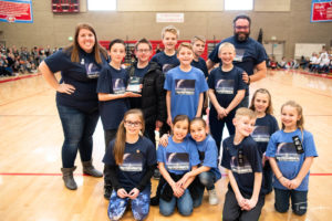2nd Place Core Values Trophy - Astrohawks (Calvin Smith Elementary)