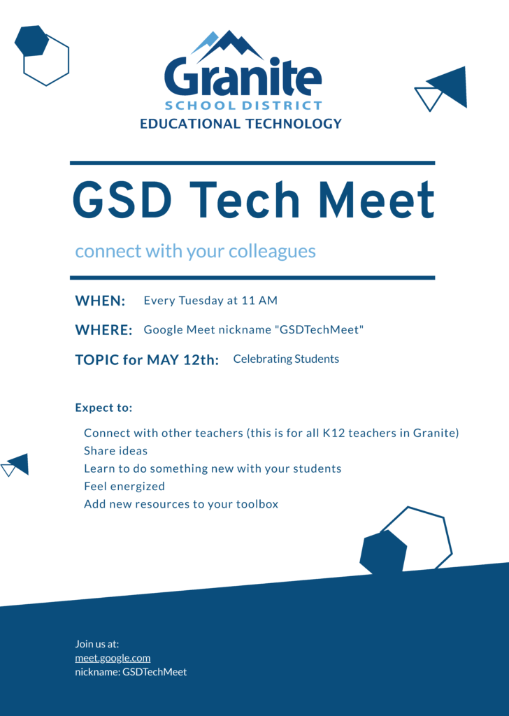 Flyer for the GSD Tech Meet on 5/12/2020