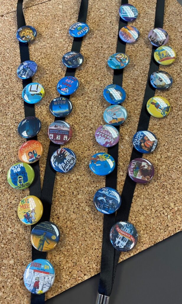 Snapshot of 2020-2021 Best Books Buttons and Lanyards