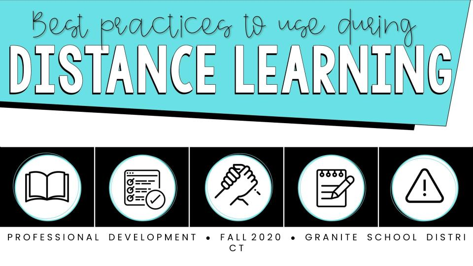 Best Practices for Distance Learning - Slideshow Cover