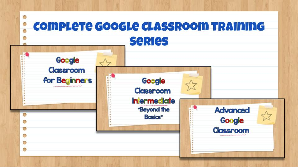 Complete Google Classroom Training Series - Screenshot of Slideshow Presentations