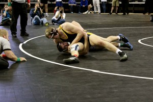 Taylorsville High's Roy Nash competes for his second consecutive state 5A title