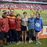 Photo of students and parents at Real Salt Lake match