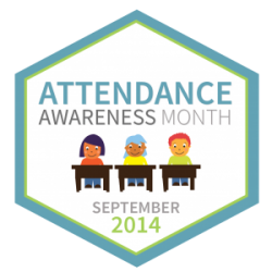 Logo for Attendance Awareness Month 2014