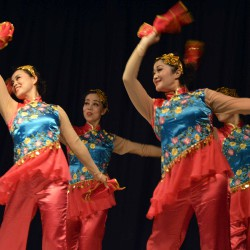 Photo of Beijing dancers at Spring Lane Elementary
