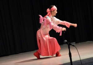 Photo of Beijing dancer at Spring Lane Elementary