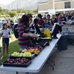Photo of teachers preparing lunch Bonneville students