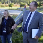 Photo of GTI agriculture teacher receiving Teacher Feature