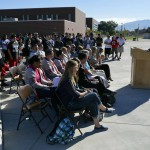 Photo of Winder plaque ceremony at Granger High