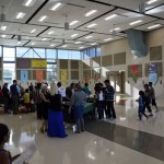 Photo of Stansbury parents and students in lunchroom