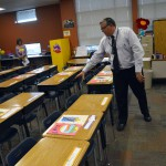 Photo of Stansbury Elementary principal in classroom