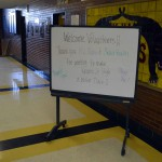 Photo of sign welcoming volunteers to Kearns Jr. High