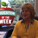 Photo of Terri Roylance and Educator of the Week logo