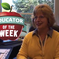 Photo of Terri Roylance and Educator of the Week logo