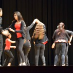 Photo of students performing dance during Latino Family Night