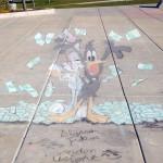 Photo of Wasatch Jr High sidewalk chalk art