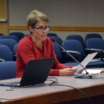 Photo of Granite Education Foundation member addressing board of education