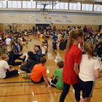 Photo of Churchill Jr High students gathered in gymnasium