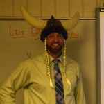 Photo of Bennion teacher dressed as a viking