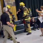 Photo of emergency personnel during Mill Creek Elementary mock disaster drill