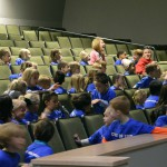 Photo of kindergarten students in Olympus High auditorium