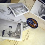 Photo of items from WWII soldier's suitcase