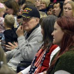 Photo of veteran at Pleasant Green Elementary assembly