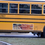 Photo of winning Bus Ad Contest entry
