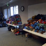 Photo of donated items for Santa Sacks