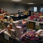 Photo of donated items for Santa Sacks