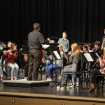 Photo of Wasatch Jr High band performing