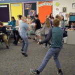 Photo of Wasatch Jr High students playing games