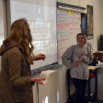 Photo of Wasatch Jr High students presenting to parents