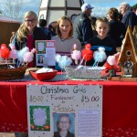 Photo of Upland Terrace students at booth supporting classmate