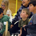 Photo of Western Hills students doing experiments on Engineering Day