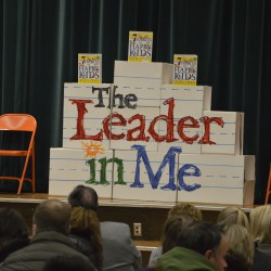 Photo of Leader in Me display at Bennion Elementary