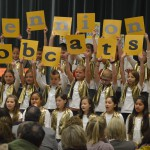 Photo of students performing at Bennion Elementary