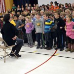 Photo of Spring Lane students singing