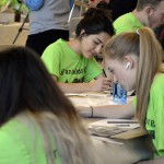Photo of students drawing during Art Night Live