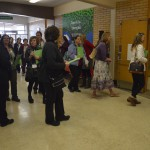 Photo of visitors entering Vista Elementary