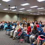 Photo of parents and students gathered for PTA Reflections awards
