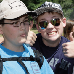 Photo of two student campers