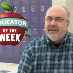 Photo of Ben Owen with Educator of the Week logo