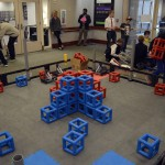 Photo of robot arena at CTE Open House