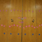 Photo of lunchroom display at Lake Ridge Elementary